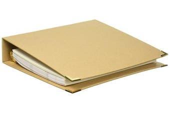 (blankdiy) - Adorn-It 81031 Art Play Kraft 3 Ring Binder Planner, 20cm x 25cm , Blank DIY, Brown