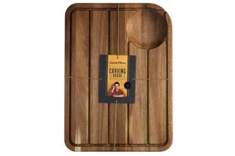 (Carving Board, Board Only) - Jamie Oliver Carving Board, Wood, Brown, 28 x 28 x 18 cm