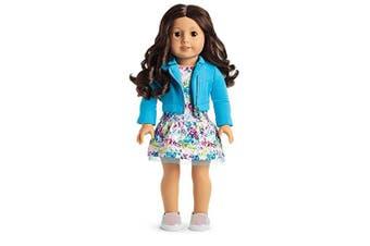 American Girl - 2017 Truly Me Doll: Brown Eyes, Curly Dark Brown Hair, Light Skin Tone DN69