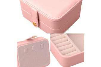 (Pink) - Aulola® Faux Leather Jewellery Box