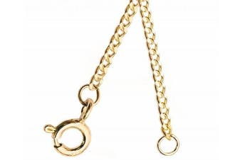 (6.0 inches) - ANTOMUS® BRITISH 9 CARAT (375)SOLID YELLOW GOLD DIAMOND CUT CURB CHAIN EXTENDER CHAIN