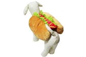 (Medium) - Petitebelle Puppy Dog Pet Clothes Soft Hot Dog Dress Up Costume (Medium)