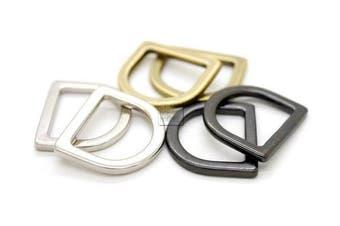 (2.5cm , Silver) - CRAFTMEmore 1.9cm or 2.5cm Flat D-Rings Purse Loop Flat Metal D-Ring Findings for Bag Belt Strap Webbing Pack of 10 PTVZP (2.5cm , Silver)