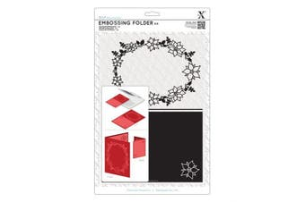 docrafts Docrafts Poinsettia Frame A4 Embossing Folder