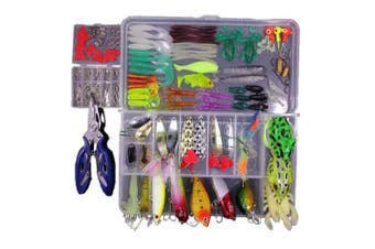TOP Concept ,Fishing Lures Kit Set For Bass,Trout,Salmon,Topwater Lures with Free Tackle Box
