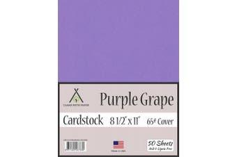 (22cm  x 28cm  - 50 Sheets) - Purple Grape Cardstock - 22cm x 28cm - 29kg Cover - 50 Sheets