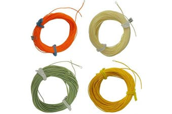 (4F, Milk yellow) - Aventik Trout Fly Fishing Line Weight Forward Floating Fly Line with Exposed Loop Easy Line ID 26m 3WT 4WT 5WT 6WT 8WT