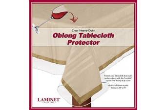 (150cm  x 300cm  - Oblong, Clear) - LAMINET Heavy-Duty Deluxe Crystal Clear Vinyl Tablecloth Protector 150cm x 300cm - Oblong