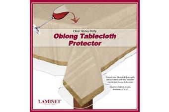 (180cm  x 130cm  - Oblong, Clear) - LAMINET Heavy-Duty Deluxe Crystal Clear Vinyl Tablecloth Protector 180cm x 130cm - Oblong