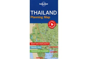 Lonely Planet Thailand Planning Map (Map)