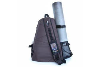 (Grey) - Aurorae Yoga Mat Bag. Multi Purpose Cross-body Sling Back Pack. Mat sold separately.