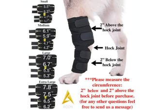 (Small) - AGON Canine Dog Hock Brace Rear Leg Joint Wrap Protects Wounds as they Heal, Compression Wrap, Heals and Prevents Injuries and Sprains Helps with Loss of Stability Caused by Arthritis