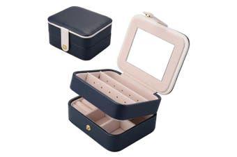 (Dark Blue) - Aulola® Faux Leather Jewellery Box