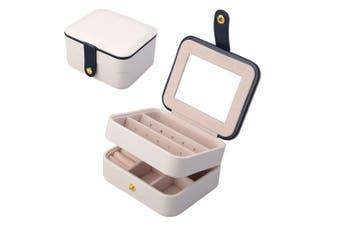 (White) - Aulola® Faux Leather Jewellery Box