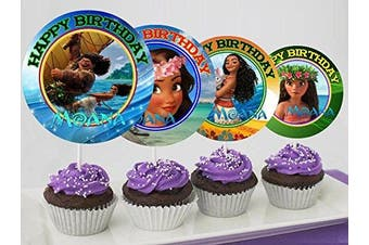 12 MOANA Special Birthday Inspired Party Picks, Cupcake Picks, Cupcake Toppers #1