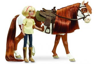 (Boomerang & Abigail) - Breyer Spirit Riding Free - Spirit and Lucky Horse and Doll Gift Set