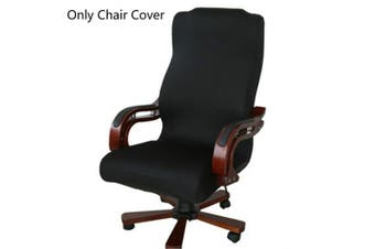 (Large, Black) - Caveen Office Chair Cover Computer Chair Universal Boss Chair Cover Modern Simplism Style High Back Large Size (Chair not included) black large