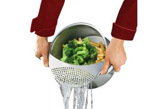 Stainless Pan Pot Spaghetti Strainer Sieve, Premium Steel Food Pasta Vegetables Drainer Colander Fits All Pots Up To 25cm