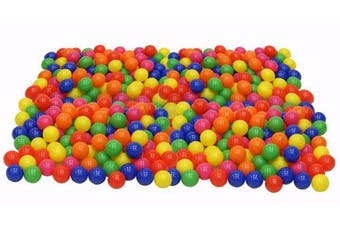 Click N' Play Pack of 100 Phthalate Free BPA Free Crush Proof Plastic Ball, Pit Balls - 6 Bright Colours in Reusable and Durable Storage Mesh Bag with Zipper