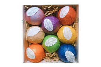 Vitanass 8 Handmade Vegan Bath Bombs Kit/Gift Set - Ultra Lush Essential Oil - Organic Shea & Coco Butter Dry Skin Moisturise - Spa Bomb Fizzies - Add to Bath Bubbles, Basket, Bath Beads - Bath Pearls