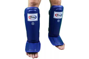 (Small, SP3 Blue) - Fairtex SP3 Pro Style Shin Guards - Black, Blue, Red