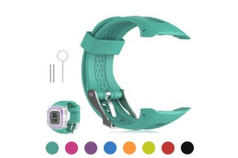 (L/Men Size, Teal) - Garmin Forerunner 10 / Forerunner 15 GPS Running Watch Replacement Band - Feskio Soft Silicone Replacement Wrist Watch Strap for Garmin Forerunner 10/Forerunner 15 GPS Running Watch (Small/Large Size)
