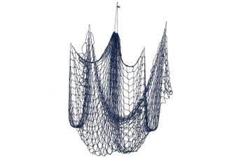 Decorative Nautical Fish Netting - Cotton Sea Net, Sea Party Decor, Fishing Theme Party Decorations, Fish Net, Blue - 200cm x 130cm