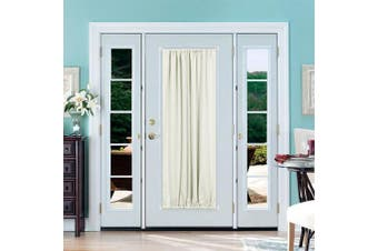 (54Wx72L Inch| 1 Panel, Light Beige) - Deconovo Blackout Drapery Door Curtains Rod Pocket Thermal Insulated Blockout Curtains for Bedroom 140cm x 180cm Light Beige 1 Panel
