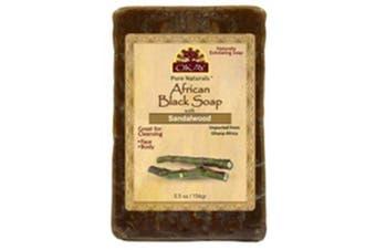 Okay African Black Soap, Sandlewood, 160ml