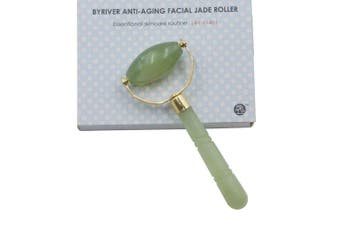 (Jade Roller) - BYRIVER Anti Ageing Jade Roller, 100% Real Jade Facial Massager, Face Neck Eyes ice Roller, Anti Puffiness ice Globes, Gift for Women Girls