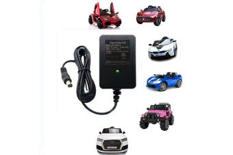 12V Kids Powered Ride On Car Universal Charger with Charging Indicator Light-For a variety of electric baby carriage ride toy battery supply power adapter
