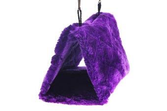 (Large) - Pesp® Pet Bird Nest Hammock Hanging Cave Cage Plush Snuggle Happy Hut Tent Bed (Large)