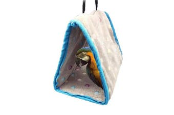 (L) - Winter Warm Bird Nest House Perch for Parrot Macaw African Grey Amazon Eclectus Parakeet Cockatiel Cockatoo Conure Lovebird Finch Cage Bed Toy