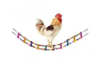 (S:Total Length:80cm ) - Bwogue Wooden Chicken Flexible Ladder,Parrot Chicken Swing,Pet Toy