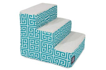 (3 Step, Teal) - Majestic Pet Portable Foam Pet Stairs | Steps for Dogs & Cats | Dog & Cat Ramp | Perfect for Bed & Sofa | Indoor Only | Max Weight: Up to 11kg