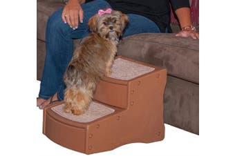 (Light Cocoa) - Pet Gear Easy Step II Pet Stairs, 2-step/for Cats and Dogs up to 34kg