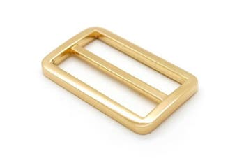 (3.2cm , Light Gold) - Bobeey 5pcs 3.2cm Light Gold Flat Metal Adjuster Sliders,Belt Sliders,Buckle Triglide For Strap Keeper Leathercraft Bag Belt Adjuster Sliders BBC9 (3.2cm , Light Gold)