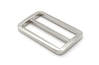 (2.5cm , Silver) - Bobeey 5pcs 2.5cm Silver Flat Metal Adjuster Sliders,Belt Sliders,Buckle Triglide For Strap Keeper Leathercraft Bag Belt Adjuster Sliders BBC9 (2.5cm , Silver)
