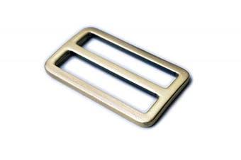 (5.1cm , Brussed Brass) - Bobeey 5pcs 5.1cm Burssed Brass Flat Metal Adjuster Sliders,Belt Sliders,Buckle Triglide For Strap Keeper Leathercraft Bag Belt Adjuster Sliders BBC9 (5.1cm , Brussed Brass)