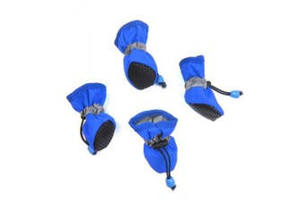 (Small, Blue) - Alfie Pet by Petoga Couture - Hudson All Weather Set of 4 Dog Boots