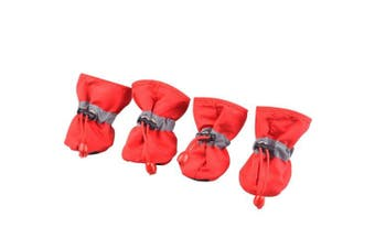 (4.5cm x 5.5cm ) - BUYITNOW Water Resistance Dog Shoes Paw Protector with Nonslip Sole Reflective Strap for Small Puppy