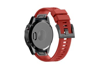 (Red) - ANCOOL Compatible with Fenix 5 Band Easy Fit 22mm Width Soft Silicone Watch Bands Replacement for Fenix 5/Fenix 5 Plus/Forerunner 935/Approach S60/Quatix 5