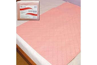 (2x Reusable Bed Pad) - Omnitex Washable Bed Protector with Tucks - 90 x 90cm Incontinence Pad, 3 Litres Absorption Capacity (2x Reusable Bed Pad)