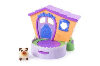 (siamesekitty) - Chubby Puppies & Friends – 2-in 1 Flip N' Play House Playset with Siamese Kitty Collectible Figure