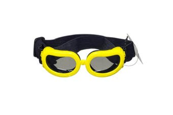 (Yellow) - [NEW VERSION] CocoPet Adorable Dog Goggles Pet Sunglasses Eye Wear UV Protection Waterproof Sunglasses for Puppy Dogs Small Medium XS