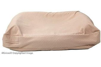 (Medium, Tan) - 4Knines Luxury Dog Bed Cover - USA Based - Premium Durable Quilted Waterproof Heavy Duty Material