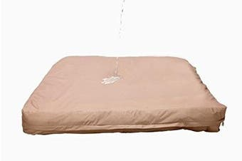 (Large, Tan) - Dog Bed Liner - USA Based - Premium Durable Waterproof Heavy Duty Machine Washable Material With Zipper Opening - 2 Year Warranty