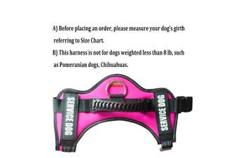 (L: chest 70cm  - 90cm  neck 60cm  - 70cm , Pink) - FAYOGOO Dog Vest Harness for Service Dogs, Comfortable Padded Dog Training Vest with Reflective Patches and Handle for Large Medium Small Dogs