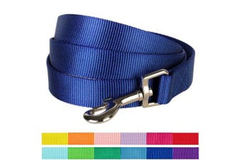 (1.5m * 1.6cm , Royal Blue) - Blueberry Pet Classic Solid Colour Dog Leash, 12 Colours, Matching Collar & Harness Available Separately