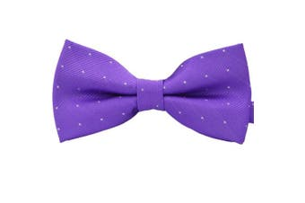 (Purple) - Amajiji Formal Dog Bow Ties for Medium & Large Dogs (D012 100% polyester)